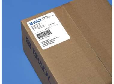 В-7606 BPT-222-305 57.15 x 76.2 мм. Вырубные этикетки. Белая бумага. Термотрансферная печать для принтера Minimark. 450 этикеток в рулоне.