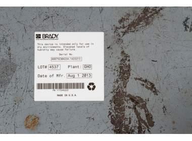 Лента B-483 оранжевая для печати на принтере Globalmark + прозрачная лента ламинат В-634 для покрытия сверху, ширина 28,6 мм Х длина 30 м