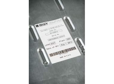 В-7606 BPT-240-305 101.6 x 76.2 мм. Вырубные этикетки. Белая бумага. Термотрансферная печать для принтера Minimark. 440 этикеток в рулоне.