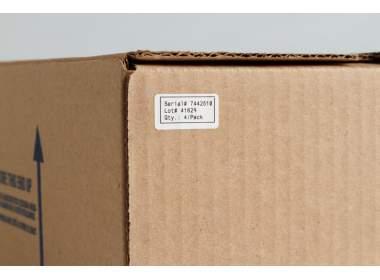 В-7606 BPT-240-405 101.6 x 101.6 мм. Вырубные этикетки. Белая бумага. Термотрансферная печать для принтера Minimark. 335 этикеток в рулоне.